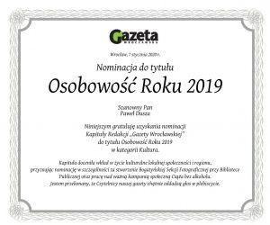 Nominacja Gazety Wrocławskiej